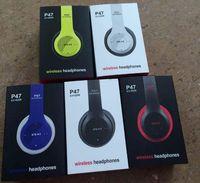Wholesale P47 Bluetooth Beatsstudio Headphones Wireless Headband Earphone Hands Free Music Headset With MF TF for Apple Samsung HTC LG Mobile Phone