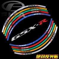 Wholesale Brand New quot Fluorescent Motorcycle Motorbike Wheel Rim Stripe Tape Sticker for Suzuki GSXR Colors