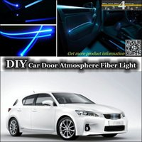 Wholesale EL Light interior Ambient Light DIY Tuning Atmosphere Fiber Optic Band Lights For Lexus CT h F Door Panel illumination Refit