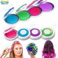 Wholesale Hot Huez Colors Dye Hair Powdery Cake Temporary Hair Chalk Powder Craze Soft Pastels Salon Party DIY Hair Color DHL