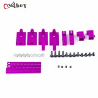 rc car body - 078026P RC Model Car Height Adjustable Alloy Stealth Body Stand Purple car satnav car body film