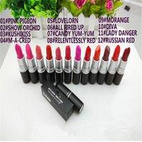 diva - Hot Makeup RETRO MATTE Lipstick Rouge RUBY WOO DIVA PLEASE ME Lipstick SATIN Lipstick Cosmetics mix