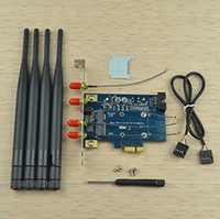 Wholesale SMAKN Mini PCI E to PCI E X Adapter with Antennas Support G WWAN Card