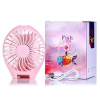 Wholesale 2016 New Piece Hand held Mermaid USB Fan Portable Mini Foldable Fan Battery Rechargeable Speed Adjustable Fan