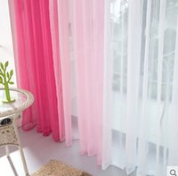 Wholesale Modern minimalist aesthetic soft sheer curtain solid color finished sheer curtain for living room free shipiing