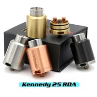 Wholesale Vaporizer KENNEDY RDA Clone POST Rebuildable Atomizers mm Diameter SS Black Brass Red Copper PEEK Insulator E Cigs Fit Box Mod DHL