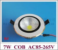 aluminum blades ceiling - COB LED ceiling lamp W LED downlight down light lamp AC85 V W with blade radiator year warranty