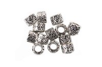 Wholesale new style antique silver pated Big Hole alloy Beads fit European Pandora Jewelry Braclet Charms DIY