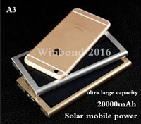 Wholesale Portable mobile power bank solar charger MAH Emergency power supply high capacity solar mobile station