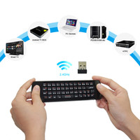 Wholesale Original Rii i25A Russian Layout Ghz Wireless Mini Air Fly Mouse Keyboard with IR Remote Learning and Earphone Jack