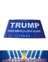 Wholesale 90 cm Trump x5 Foot Flag Make America Great Again Donald for President USA American Presidential Election Flag MYY