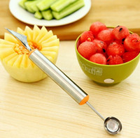 Wholesale Multi Function Stainless Steel Fruit Watermelon Melon Baller Carving Knife Ice Cream Scoop Spoon Useful Kitchen Tools