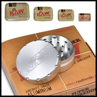 aviation parts - RAW quot parts tobacco metal grinders Aviation aluminum herb grinder RAW Grinder Rolling Tray Pure brass tray A009