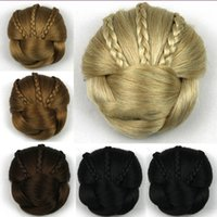 Wholesale Fashion Colors Synthetic cm Chignon Hairstyle Fake Hairpiece g Hair Bun Braids Clip In Beauty Chignon Hair Extensions