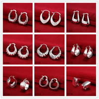 Wholesale Factory direct sale pairs diffrent style women s silver earring GTE68 new arrival fashion ear cuff sterling silver earrings