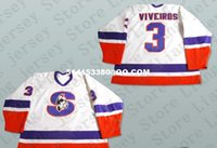 ahl hockey jerseys - Deluxe Edition Emanuel Viveiros Springfield Indians AHL Hockey Jersey white or Custom any number name Mens Stitched jerseys