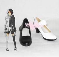 Wholesale Danganronpa Trigger Happy Havoc monokuma high heel cosplay shoes boots shoe boot HY054 Halloween
