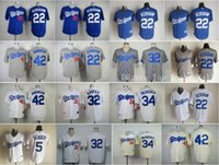 baseball game los angeles - Los Angeles Dodgers Jackie Robinson Baseball Jerseys Game Clayton Kershaw Corey Seager Fernando Valenzuela Sandy Koufax