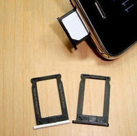 Wholesale For iPhone g gs Sim Card Slot Tray Holder Adapter with Black and White Colours replacement