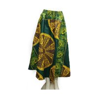 ankara clothing - African women clothing wrap skirt ankara fabric Long Wrap Boho Maxi skirt in green LBLCQ