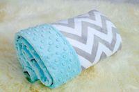 acrylic mink blankets wholesale - Free Ship baby chevron minky blanket infant Crib blanke knitting shower gift baby cotton blanket minky dot mink baby super soft blanket
