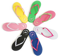 Wholesale Special SALES Candy colors Womens Beach Summer Slippers Flip Flops Couple multi Color pink dog slippers