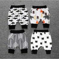 Wholesale 4pcs Boys Girls Pants Children Summer Pants Toddler Girls Boys Pants Batman Cartoon Pattern Kids Clothes