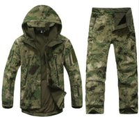 Wholesale 2016 Tad v Shark skin soft shell lurkers outdoors tactical military jacket uniform pants suits Camouflage hunting clothes