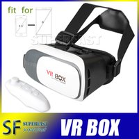 android plastic - Virtual Reality D VR Box Head Mount Plastic D Glasses And Bluetooth Gamepad For Inch Mobile Phone With Retail Package