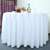 Wholesale 120 inch Table cloth Table Cover round for Banquet Wedding Party Decoration Tables Satin Fabric Table Clothing Wedding Tablecloth Home Texti