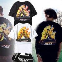 basic white tshirt - 2016 palace skateboards classic triangle print mens t shirt basic summer noah cotton short sleeve tshirt tee men brand clothing