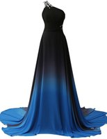 Wholesale Cheap Couture Dresses One Shoulder Long Prom Dresses Chiffon Women Formal Evening Gowns Dresses