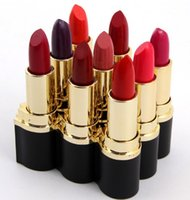 al tubes - In Stock Miss Rose Lipsticks Professional Makeup Lipstick Black Gold Tube D Miner Al Lipstick Colors Mixed Solid Lipstick