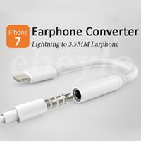 Wholesale For iPhone Plus Earphone AUX Connector Adapter Lighting to MM Headphone Headset Converter Cord Line cable