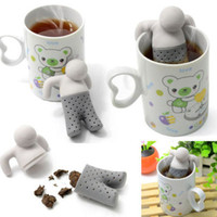 enamel teapot - Teapot cute Mr Tea Infuser Tea Strainer Coffee Tea Sets silicone fred mr tea