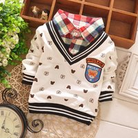 Wholesale 2016 Newest Long Sleeve Baby Boys t shirts Children Clothes Kids Cartoon Sport Cotton Boy Clothing Tees Tops Outfits
