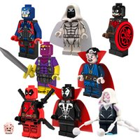 atom build - 2016 New Marvel Super Hero Minifigures Hydra Captain America Spawn Atom Doctor Strange building blocks kids toys bricks PG8014