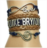 american singers - Drop Shipping Infinity Love Luke Bryan Music Charm Handmade Leather Wrap Bracelet Custom Musicale Note Singer Fans Bracelet