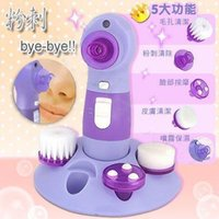 Wholesale skin care Cleaning System Multi function in Electric Beauty Care Facial beauty care massager Roller with Massage Head