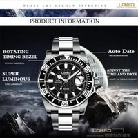 alibaba watches - Alibaba LOREO Multi Function Steel Men Male Clock Stylish Design Classic Mechanical Wrist Dress Sport Watch Christmas Gift A44