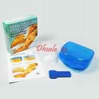Wholesale Stop Snoring Mouthpiece Anti Snore Apnea Silicone Guard set By DHL