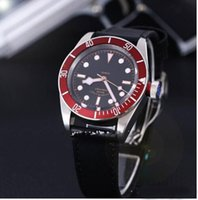 bay auto - Factory Supplier NEW Brand New Luxury High Quality Black Bay Auto Gents Watch R Red Bezel Black Dial Automatic Mechanical Men s