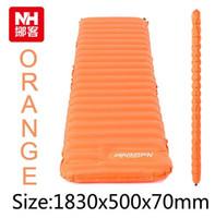 Nuevo 570G moda manualmente inflables amortiguador camping mat tienda colchón al aire libre a prueba de humedad cojín NH15T051-P