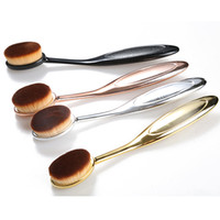 Toothbrush Shaped 1pcs Synthetic Hair Toothbrush Shaped Makeup Brushes Foundation Power Oval Cream Puff Brushes Foundation Blusher Make up Tools Gold Factory Price