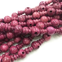 Wholesale mm x8mm Purple spots Jasper Tibet Guru Gemstone Beads DIY Fashion Necklace bracelet