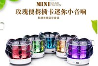 beautiful music player - FL Beautiful crystal rose LED Bluetooth speaker portable card mini stereo MP3 music player DHL