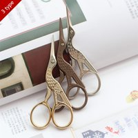 antique sewing scissors - Heron Egret Shape antique sewing scissors Zakka Taylor Shear For Fabric Craft Household sewing accessories patchwork tool