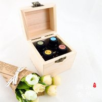 wooden jewelry box - Essential Oil Wooden Storage Box holes ml ml bottles handmade Multifunction partition Natural pine wood without paint