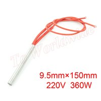 Wholesale Red Wire Heater AC V W mm x mm Single End Stainless Steel Cartridge Heater
