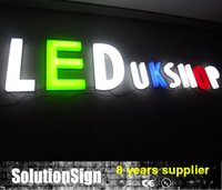 Wholesale 3D illuminated acrylic letters and signs